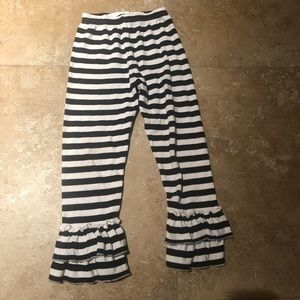 Other - Striped ruffle leggings, sz 5T